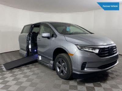 New Wheelchair Van for Sale - 2021 Honda Odyssey EX Wheelchair Accessible Van VIN: 5FNRL6H54MB035486
