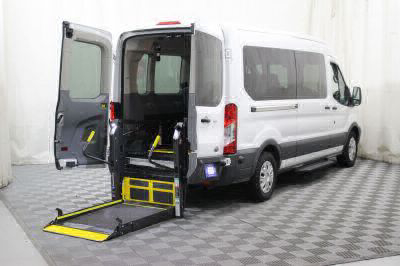 Commercial Wheelchair Vans for Sale - 2017 Ford Transit Passenger 350 XLT 15 ADA Compliant Vehicle VIN: 1FBAX2CM6HKA76367