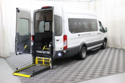Commercial Wheelchair Vans for Sale - 2018 Ford Transit Wagon 350 XLT-HD 15 ADA Compliant Vehicle VIN: 1FBVU4XM9JKA26598