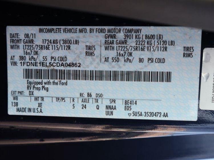 2012 Ford Econoline E150 E-150 Wheelchair Van For Sale #37