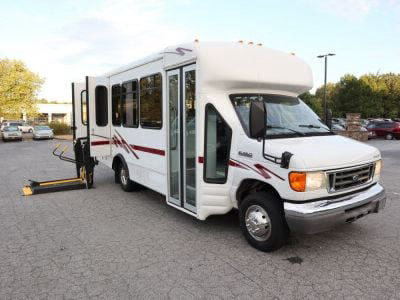 Used Wheelchair Van for Sale - 2006 Ford E350 Super Duty Mini-Bus Conversion Wheelchair Accessible Van VIN: 1FDWE35S86DA06228