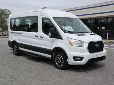 Commercial Wheelchair Vans for Sale - 2021 Ford Transit Passenger 350 XLT ADA Compliant Vehicle VIN: 1FBAX2C86MKA28915