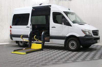 Commercial Wheelchair Vans for Sale - 2016 Mercedes-Benz Sprinter 2500 144 WB ADA Compliant Vehicle VIN: WDZPE7DD6GP294009