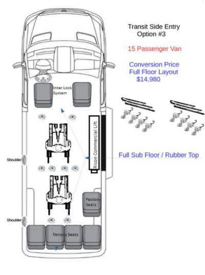 2018 Ford Transit Passenger Wheelchair Van For Sale -- Thumb #4