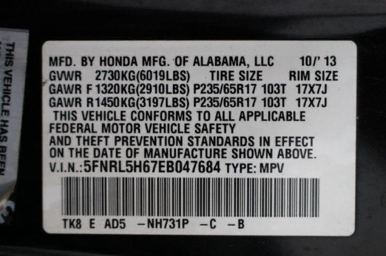 2014 Honda Odyssey EX-L Wheelchair Van For Sale #37