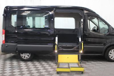 Commercial Wheelchair Vans for Sale - 2018 Ford Transit Passenger 350 XLT ADA Compliant Vehicle VIN: 1FBAX2CM7JKB02920