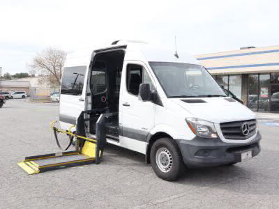 Commercial Wheelchair Vans for Sale - 2016 Mercedes-Benz Sprinter Passenger 2500 ADA Compliant Vehicle VIN: WDZPE7DD6GP294009