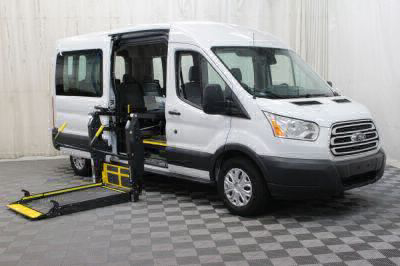 Commercial Wheelchair Vans for Sale - 2018 Ford Transit Passenger 350 XLT ADA Compliant Vehicle VIN: 1FBAX2CM3JKA67776