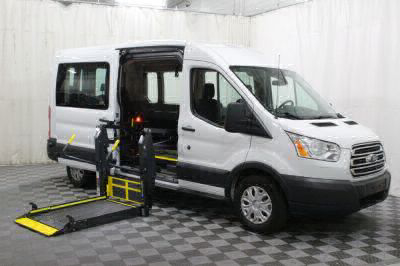 Commercial Wheelchair Vans for Sale - 2018 Ford Transit Passenger 350 XLT ADA Compliant Vehicle VIN: 1FBAX2CM9JKA84131