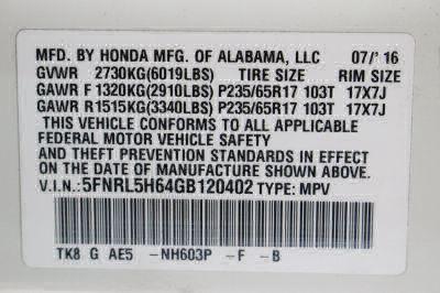 2016 Honda Odyssey Wheelchair Van For Sale -- Thumb #27