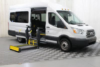 Commercial Wheelchair Vans for Sale - 2018 Ford Transit Passenger 350 XLT 15 ADA Compliant Vehicle VIN: 1FBVU4XM0JKA48523