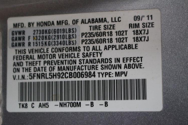 2012 Honda Odyssey Touring Elite Wheelchair Van For Sale #28