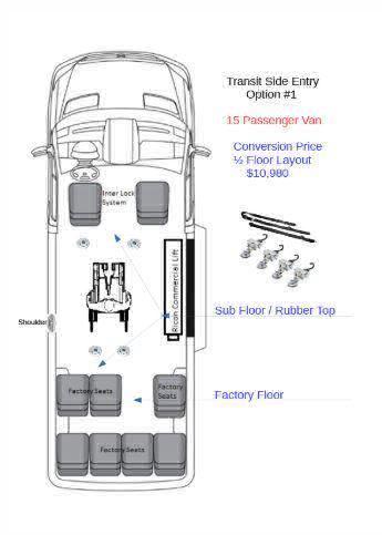 2018 Ford Transit Passenger Wheelchair Van For Sale -- Thumb #3