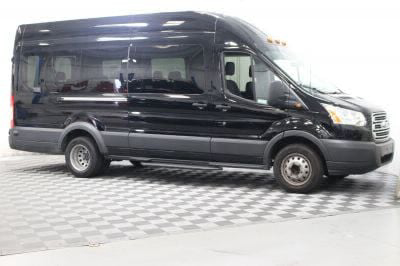 Commercial Wheelchair Vans for Sale - 2018 Ford Transit Passenger 350 XLT 15 ADA Compliant Vehicle VIN: 1FBVU4XM2JKA29987