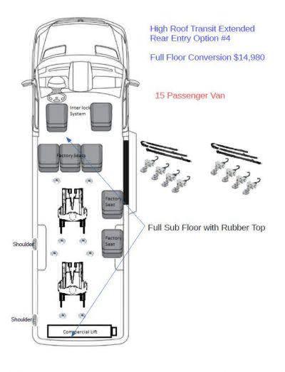 2018 Ford Transit Wagon Wheelchair Van For Sale -- Thumb #3