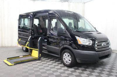 Commercial Wheelchair Vans for Sale - 2018 Ford Transit Passenger 350 XLT ADA Compliant Vehicle VIN: 1FBAX2CM0JKA85880