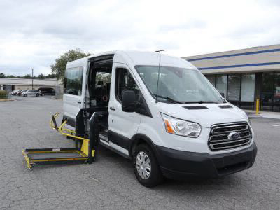 Commercial Wheelchair Vans for Sale - 2019 Ford Transit Passenger 350 XLT ADA Compliant Vehicle VIN: 1FBAX2CM2KKA36598