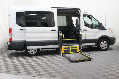 Commercial Wheelchair Vans for Sale - 2017 Ford Transit Passenger 350 XLT 15 ADA Compliant Vehicle VIN: 1FBAX2CM4HKA37681