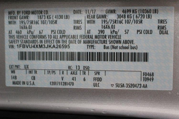 2018 Ford Transit Wagon 350 XLT-HD 15 Wheelchair Van For Sale #34