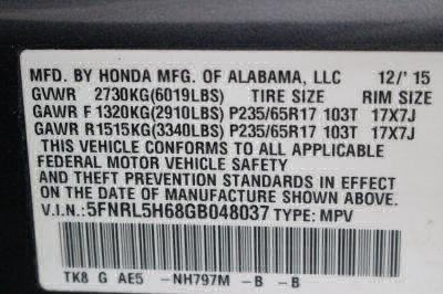 2016 Honda Odyssey Wheelchair Van For Sale -- Thumb #30