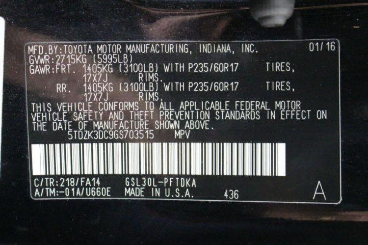 2016 Toyota Sienna L Wheelchair Van For Sale #20