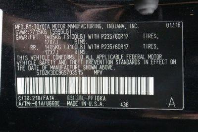 2016 Toyota Sienna Wheelchair Van For Sale -- Thumb #20