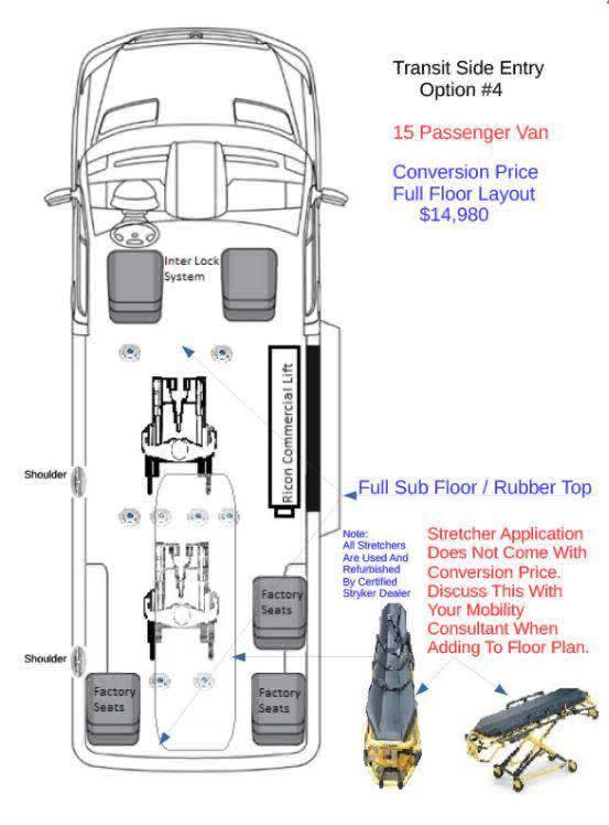 2017 Ford Transit Passenger 350 XLT 15 Wheelchair Van For Sale #4